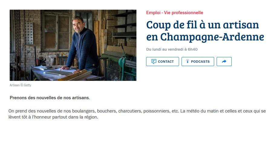 Coup de fil à un artisan en Champagne-Ardenne